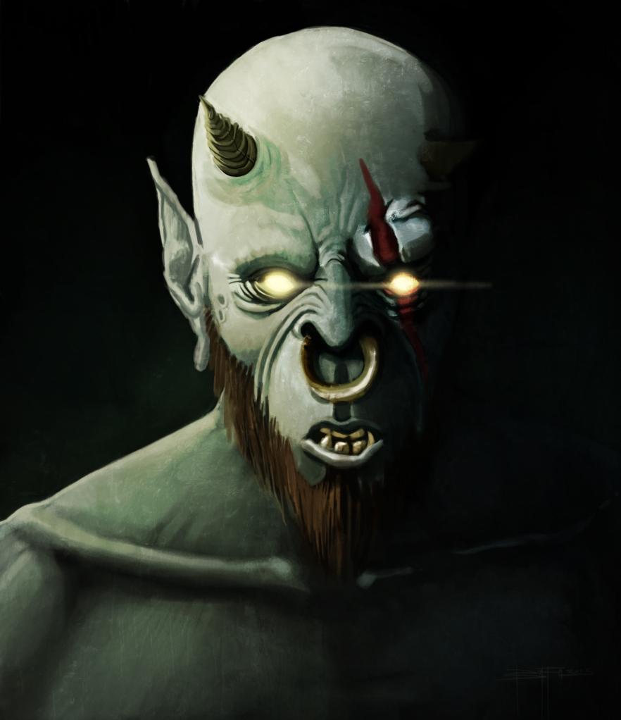 Demone volto wip2