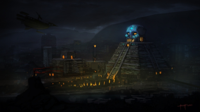 tenochtitlan concept night