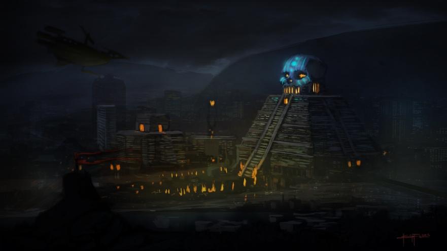 tenochtitlan concept night